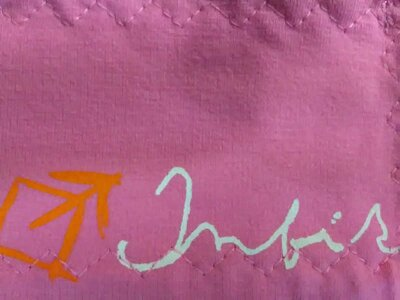 3d00c399ffe Čelenka vázací Infit Biker růžová vzor písmo