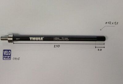 THULE AXLE adaptér Shimano E-Thru (M12x1,5) 209mm FAT BIKE #20110735