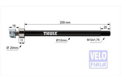 THULE AXLE adaptér Maxle (M12x1,75) 209mm FAT BIKE #20110736