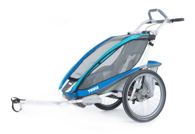 Thule Chariot CX1 2014 BLUE vozík + bike set