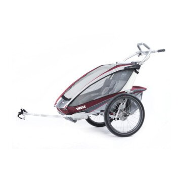 Thule Chariot CX1  BURGUNDY + bike set