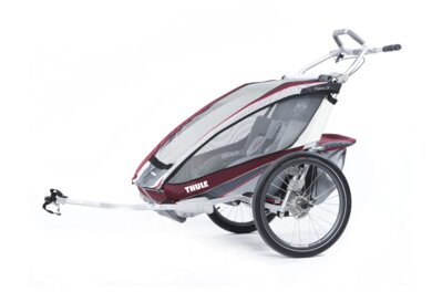 Thule Chariot CX2 2014 BURGUNDY vozík + bike set