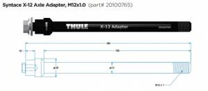 THULE AXLE adaptér Syntace X-12 (M12x1,0) 160mm #20100765