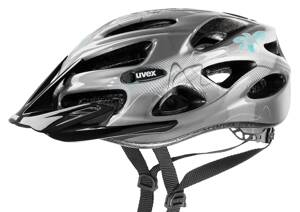 18 UVEX HELMA ONYX LADY LINE, DARK SILVER-LIGHT BL 52-57cm