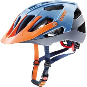18 UVEX HELMA QUATRO, BLUE SILVER ORANGE 53-57cm