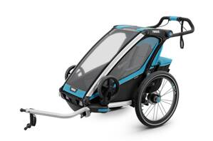 Thule Chariot Sport 1 Blue + jogger set zdarma
