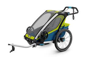Thule Chariot Sport 1 GREEN/BLUE + jogger set zdarma