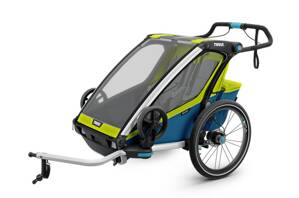 Thule Chariot Sport 2 GREEN/BLUE + jogger set zdarma